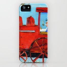 The Train Machine of my Daughters Juan Manuel Rocha Kinkin iPhone Case