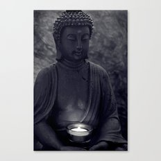 Buddha in the dark Canvas Print