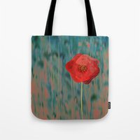 alone Tote Bags featuring Alone by Klara Acel