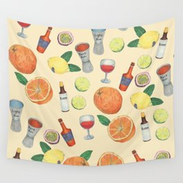 cocktail recipe pattern _ zombie Wall Tapestry