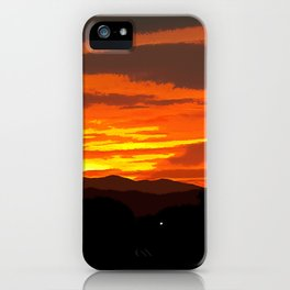 Oil Paintings in A Sunset iPhone Case