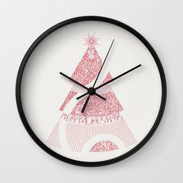 Christmas Tree / Red Wall Clock