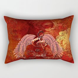 Clef with wings Rectangular Pillow