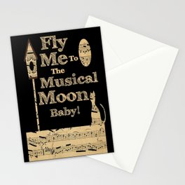 Fly Me To The Musical Moon Baby! Stationery Cards