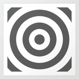 Target (Grey & White Pattern) Art Print