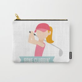 Gone Clubbin Clubbing Party Golf Club Pun Carry-All Pouch