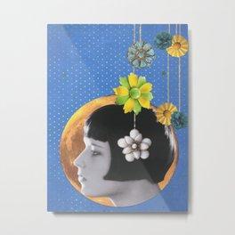 Lady on the Moon Metal Print