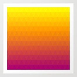 Pink and Yellow Ombre Art Print