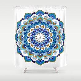 MauindiArts Virtue Mandala Print Shower Curtain