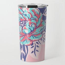 Cabbage Rose Tattoo Flash Travel Mug