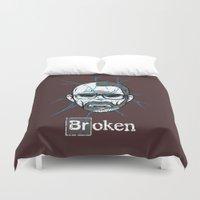 broken Duvet Covers featuring Broken by Mike Handy Art