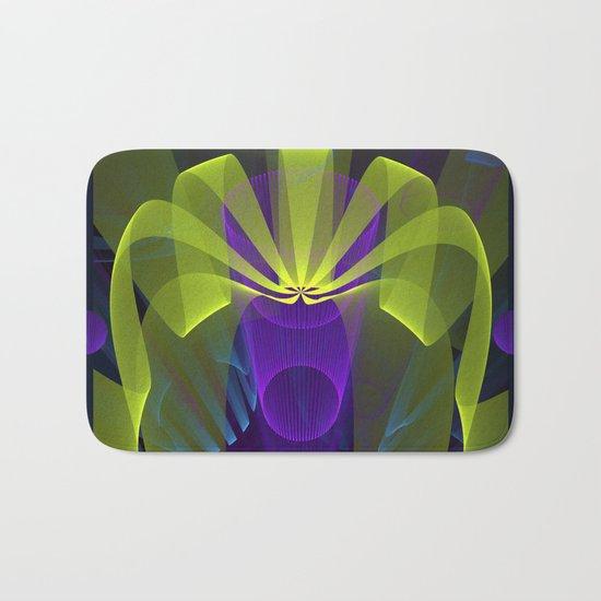 Modern abstract in 3-d Bath Mat