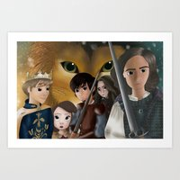 narnia Art Prints featuring Narnia by BellaG studio