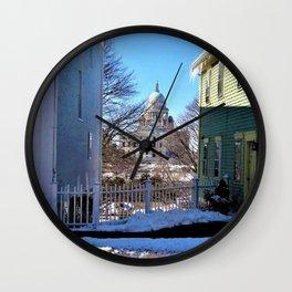 Rhode Island State House - Providence, Rhode Island by Jeanpaul Ferro Wall Clock