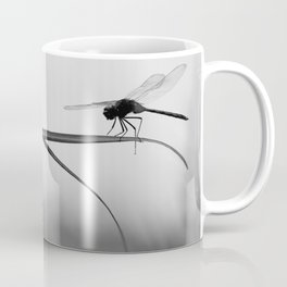 Insect Photography | Dragon Fly | Black and White Photography Coffee Mug