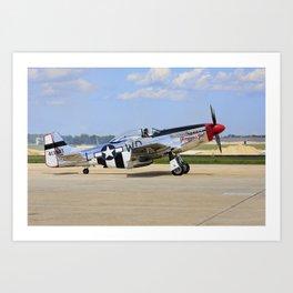 P-51D  Mustang NL751RB 413903 Andrews Air Force Base Washington Art Print