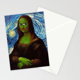 Pepe Mona Lisa/Starry Night Stationery Cards
