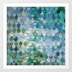 REALLY MERMAID OCEAN LOVE Art Print