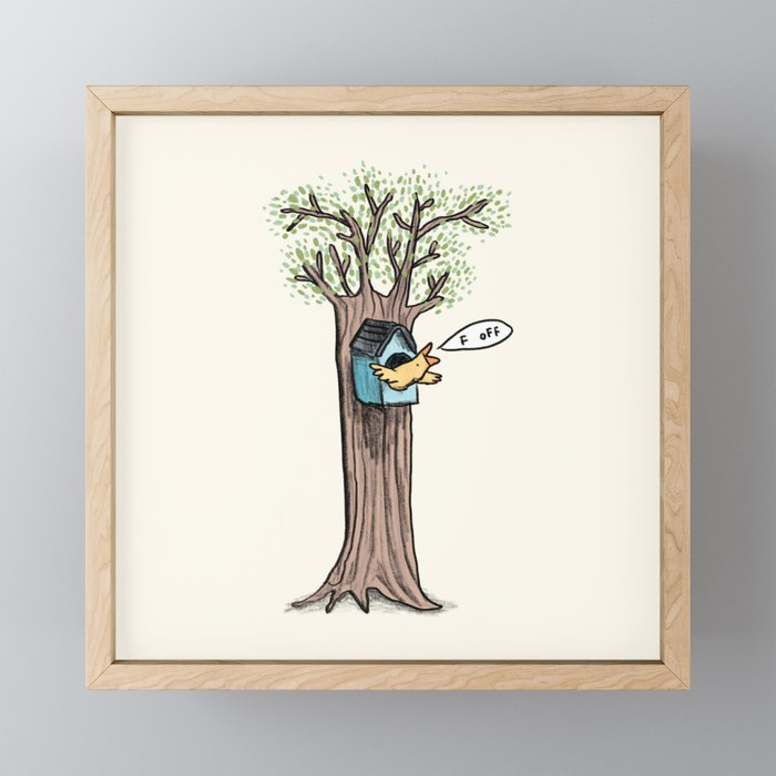 Rude Bird Framed Mini Art Print
