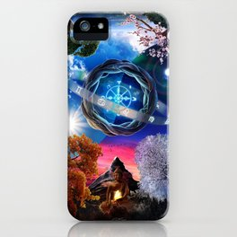 X . The Wheel Tarot Card Illustration iPhone Case