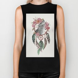 Wolf Dream Catcher Biker Tank