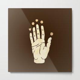 magick hand Metal Print