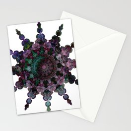Purple Seaflake Stationery Cards