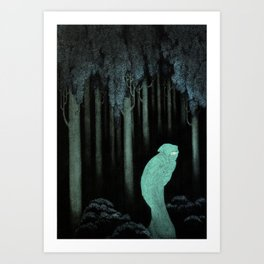 Hish, Lord of Silence, Whose Children Are Bats Art Print