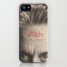 Wall Street, alternative movie poster, Gordon Gekko, Oliver Stone, film, minimal fine art playbill iPhone Case