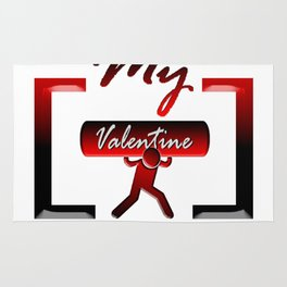 Strong Funny Valentine Day Gift -For Him and Her Rug