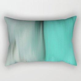 Modern abstract gray mint green teal brushstrokes ikat Rectangular Pillow