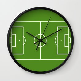 Football field fun design soccer field Wall Clock