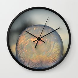 Frozen Rainbow bubble Wall Clock