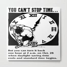 Vintage poster - Daylight Savings Time Metal Print