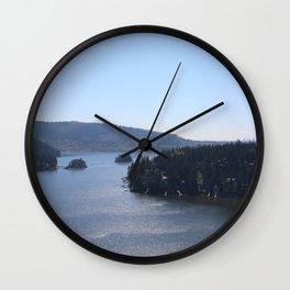 Quarry Rock Deep Cove view Wall Clock
