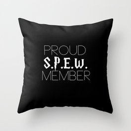 proud s.p.e.w. member // black Throw Pillow