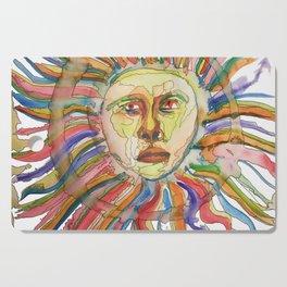 Vibrant Watercolor Sun Cutting Board