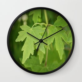 Amber Orientalis Leaves Wall Clock