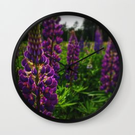 Lost in the Lupines Wall Clock