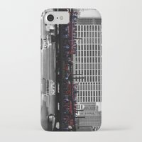 blackhawks iPhone & iPod Cases featuring Chicago Blackhawks 2013 Championship Parade Route by Michael A. Hubatch