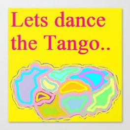 Lets Dance The Tango Canvas Print
