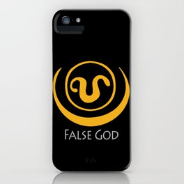 False God. Inspired by Stargate SG1 - The symbol of Apophis as worn by Teal'c iPhone Case