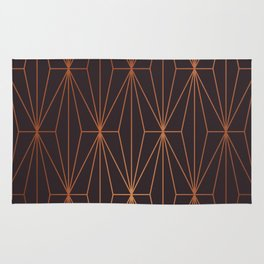 ELEGANT BLACK BEAN COPPER PATTERN Rug