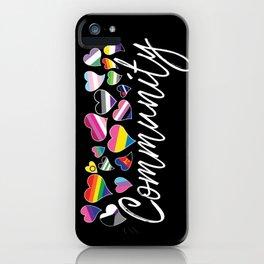 Community - LGBTQA iPhone Case