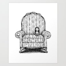 Big Chair Art Print