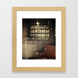 FADED MEDICINE SHOP Framed Art Print