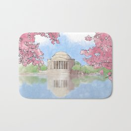 Cherry Blossom - Jefferson Memorial Bath Mat