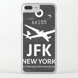 JFK Airport code New York USA Clear iPhone Case
