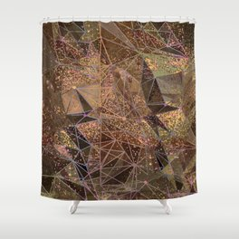 earthy structure Shower Curtain