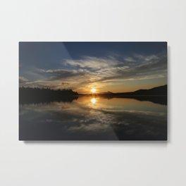 Sunset on the Flagstaff Metal Print